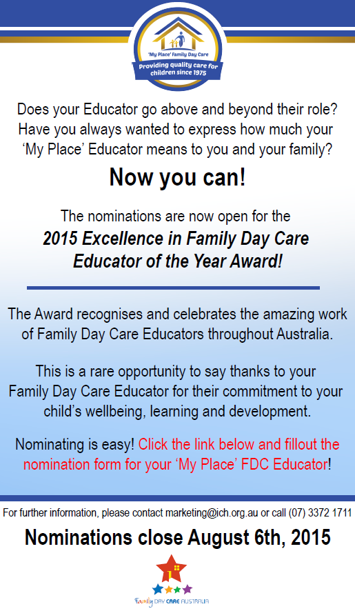 2015 Family Day Care Awards