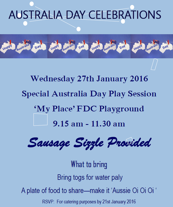 'My Place' Australia Day Play Session