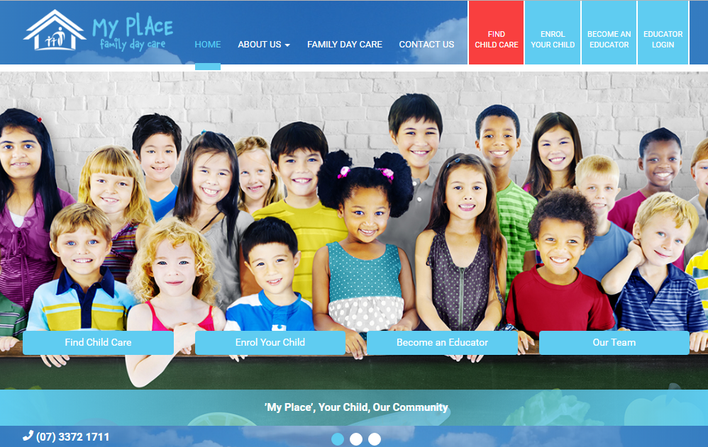 'My Place' Family Day Care: 'Find Child Care' & 'Educator Portal'