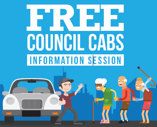 50 & Better Acacia Ridge: Free Council Cabs Info Session